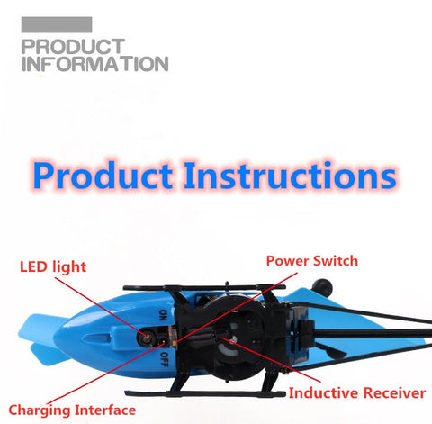 Image of Mini rc drone helicopter with led light and remote control