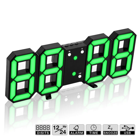 Image of Hot! 3D LED Wall Clock Modern Digital Wall Table Clock