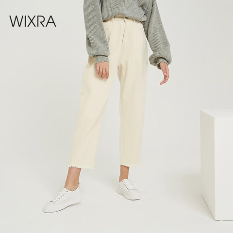 Image of Wixra  Casual Women's Pants High Waist Pockets