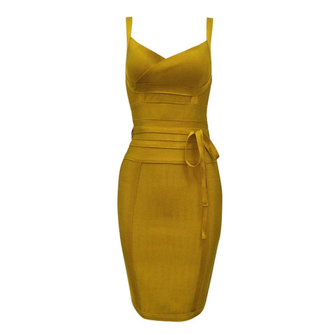 Image of Newest Fashion Bandage Dress Women Spaghetti Strap V-Neck  Evening Party Dress Women