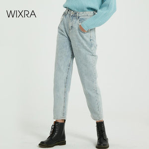 Wixra New Solid BF Casual Women's Denim Jeans