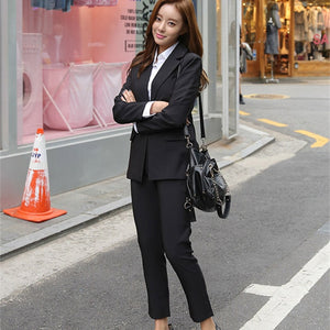 Alien Kitty Elegant Office Work Wear Pant Suits OL 2 Piece Sets