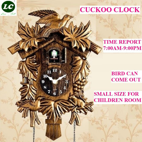 Image of Cuckoo Clock Living Room Wall Clock Bird Cuckoo Alarm Clock Watch