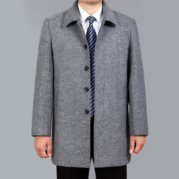 High Quality Men Wool Coat Autumn Winter Overcoat