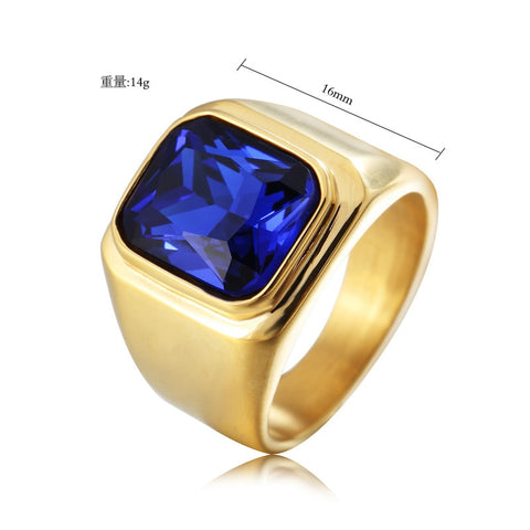 Fashion Stainless steel Men's Signet Ring