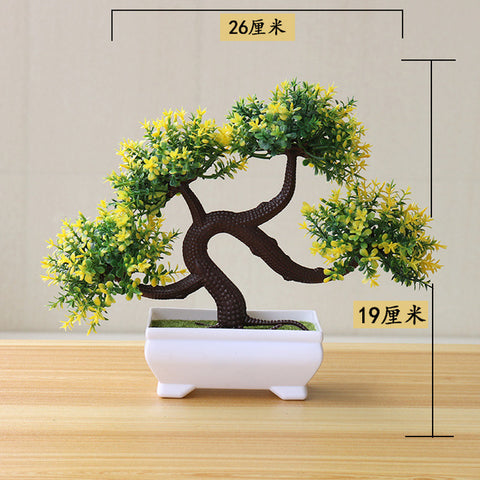 NEW Artificial Plants Bonsai Small Tree Pot Plants Fake Flowers