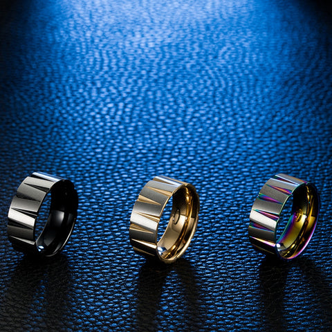 Domineering Men Rings 8mm  Pure Carbide Titanium