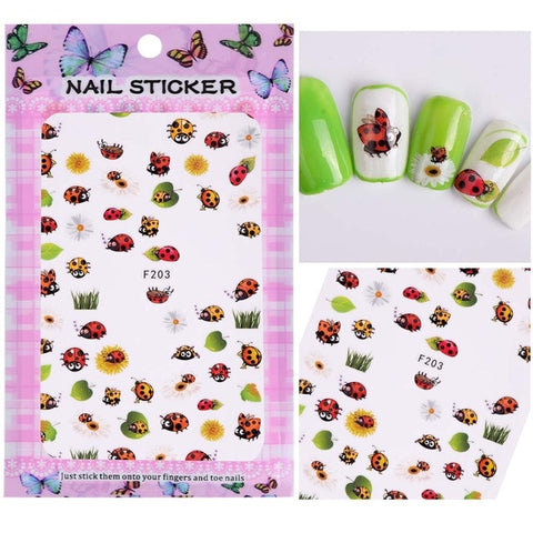 Image of 1 Sheet Embossed 3D Nail Stickers