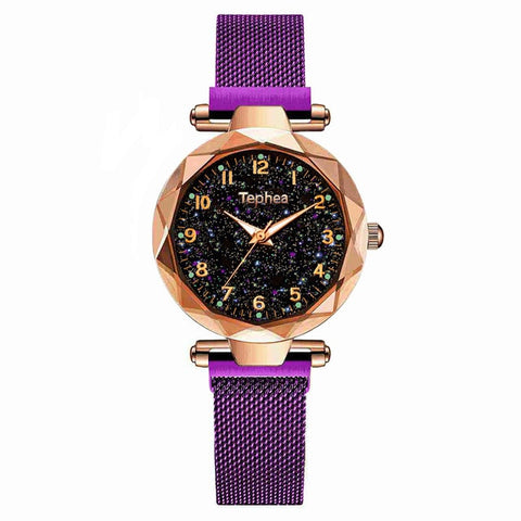 Ladies Dress Watch Magnetic Starry Sky