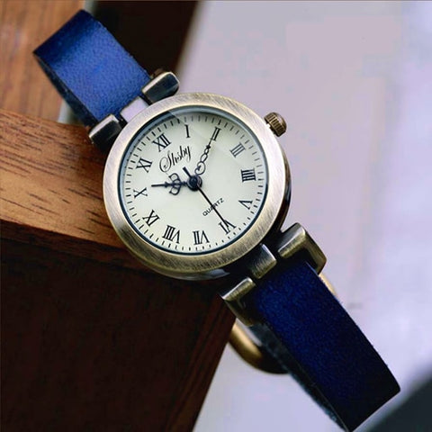 shsby New fashion leather female watch