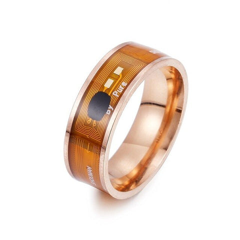 Image of NFC Smart Ring Multifunctional Stainless Steel Waterproof Intelligent Digital Technology Ring