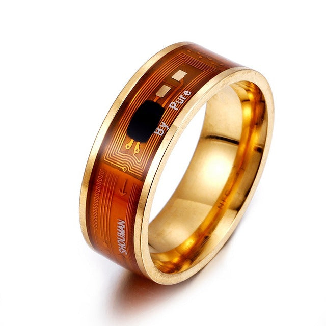 NFC Smart Ring Multifunctional Stainless Steel Waterproof Intelligent Digital Technology Ring