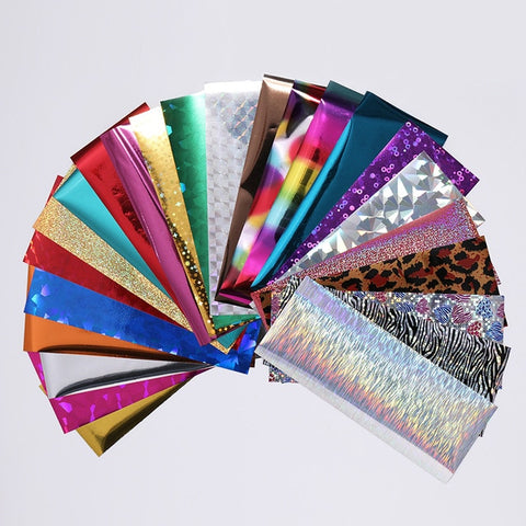 7 Colors  Nail Foils Nail Transfer Sticker  4*20cm