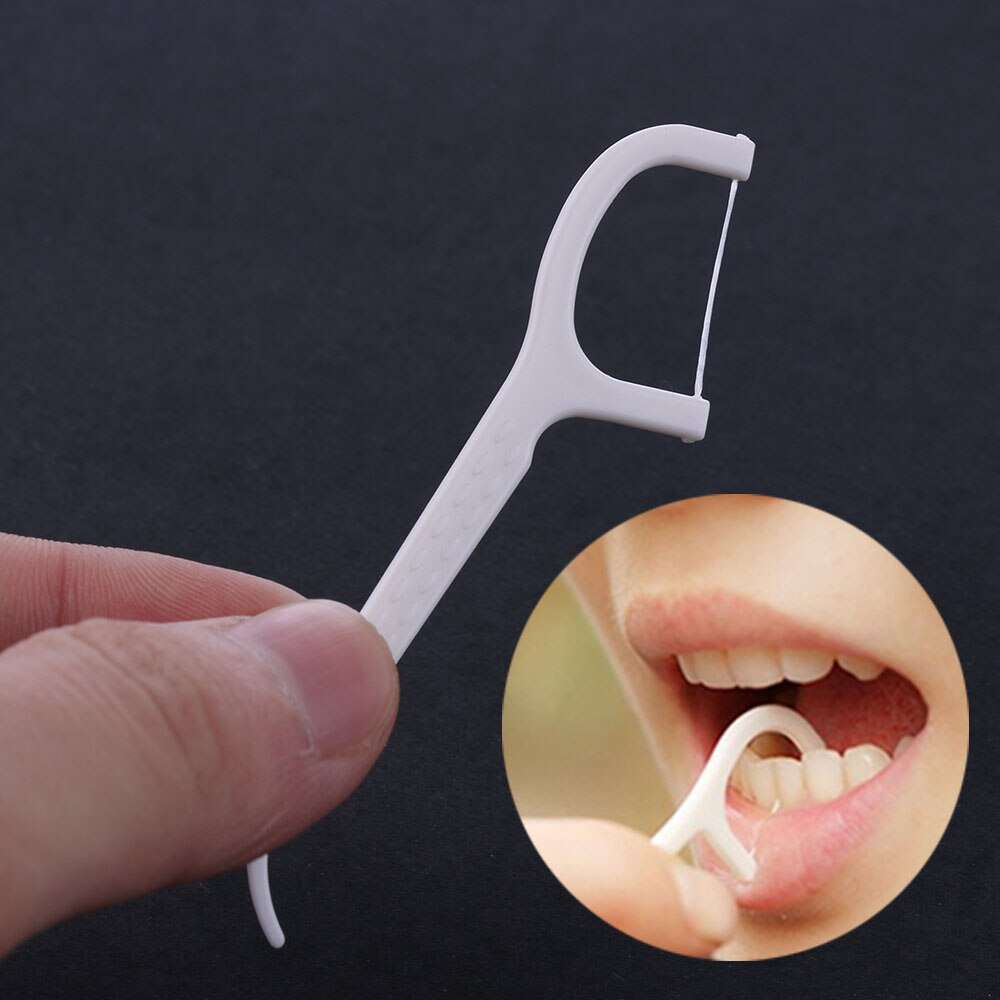 100Pcs/Pack Floss Oral Care Teeth Cleaner Dental Floss Flosser Brush Tooth Picks