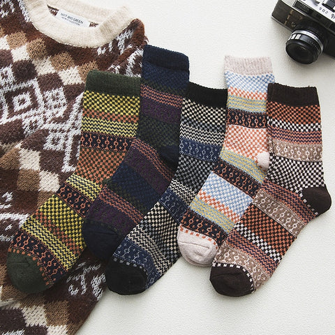 Image of 5Pairs/lot New Witner Men Socks Thick Warm Wool Socks
