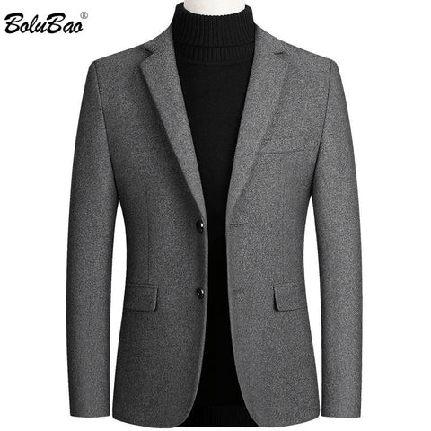 BOLUBAO Men Suit Brand New Men's Blazer Luxury Wool Thick Men Classic Business Suits Jacket Male Luxurious Slim Blazers