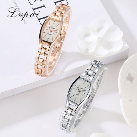 LVPAI Rose Gold Casual Quartz Ladies Bracelet Wristwatch