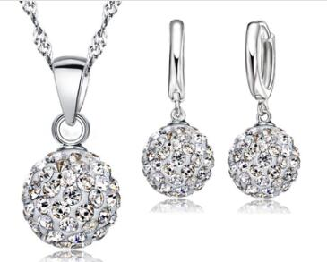 925 Sterling Silver Bridal Rhinestone Jewelry Sets
