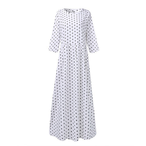 2020 Summer Bohemian Printed Dress ZANZEA Long Maxi Dresses Women Vintage Vestido Robe Pleated Plus Size Femme 3/4 Sleeve Tunic