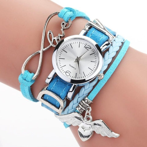 Duoya Brand Watches For Women Luxury Silver Heart
