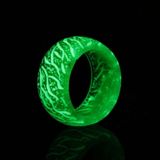 Fashion Colorful Luminous Resin Ring