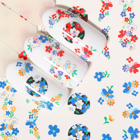 1 Sheet Nail Water Decals Transfer Stickers