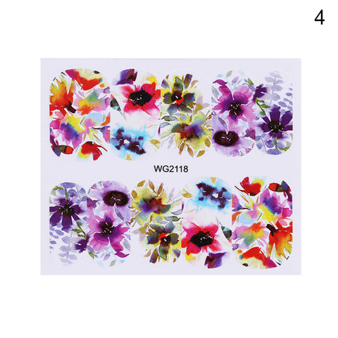 Image of 1 Sheet Nail Water Decals Transfer Stickers