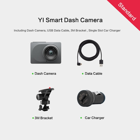 "Image of YI Dash Camera 2.7"" Screen Full HD 1080P 60fps 165 degree Wide-Angle Car DVR Vehicle Dash Cam with G-Sensor Night Vision ADAS"