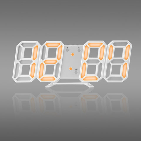 Hot! 3D LED Wall Clock Modern Digital Wall Table Clock