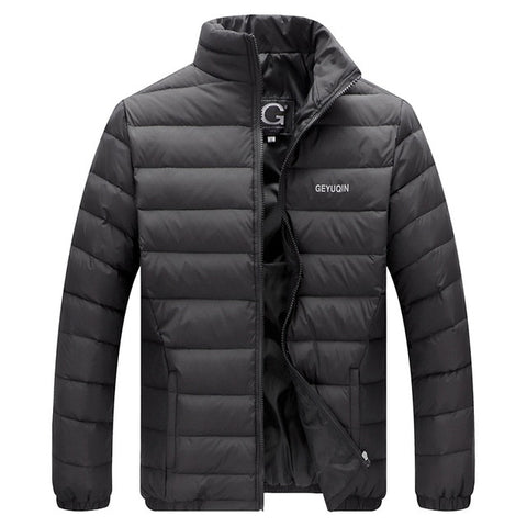Image of Big Size White Duck Down Men's Winter Jacket Ultralight Down Jacket Casual Outerwear
