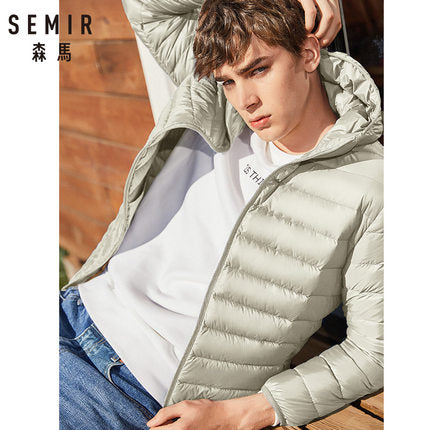 SEMIR brand men down jacket casual fashion winter jacket for men