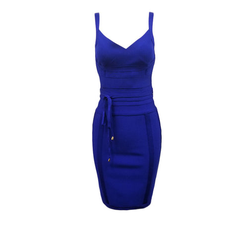Newest Fashion Bandage Dress Women Spaghetti Strap V-Neck  Evening Party Dress Women