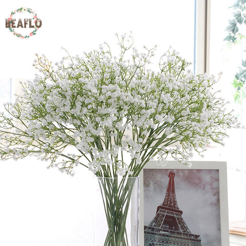 Image of 1pc Artificial Baby's Breath Flower Gypsophila Fake Silicone plant