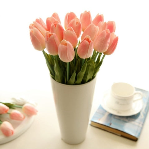 Image of 1PC PU Tulips Artificial Flowers Calla Real touch