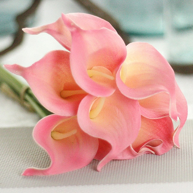 1PC PU Tulips Artificial Flowers Calla Real touch