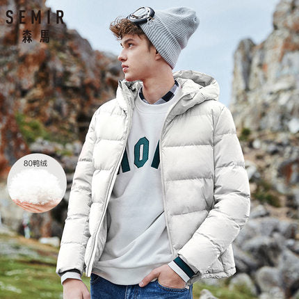 Image of SEMIR Winter Jacket Men New Couples Thick Coats 90% Duck Down Ultra-light Slim