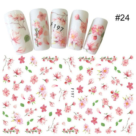 Image of 1 Sheet Gold Silver Metal 3D Nail Sticker