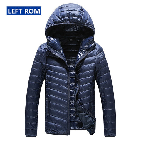Image of New High-end Warm Fashion for Men Feather Hooded Down Jacket