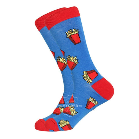 MYORED 1 pair men socks cotton funny crew socks