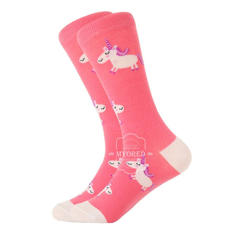 Image of MYORED 1 pair men socks cotton funny crew socks