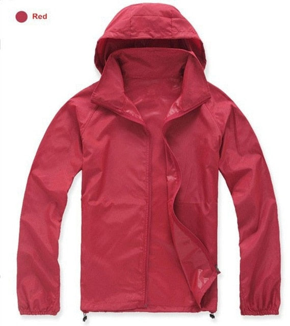 Men Women Quick Dry Hiking Jackets  Waterproof Sun-Protective Outdoor