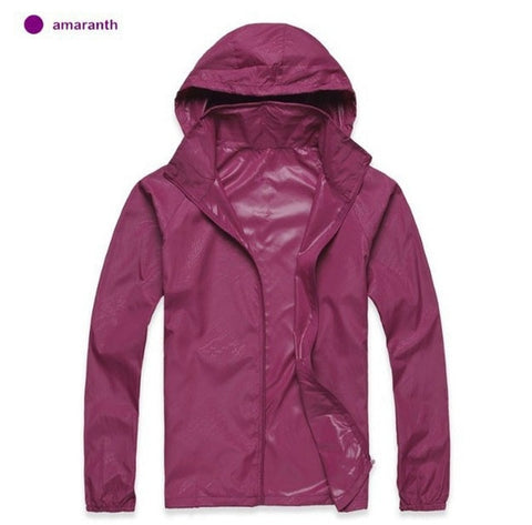 Image of Men Women Quick Dry Hiking Jackets  Waterproof Sun-Protective Outdoor