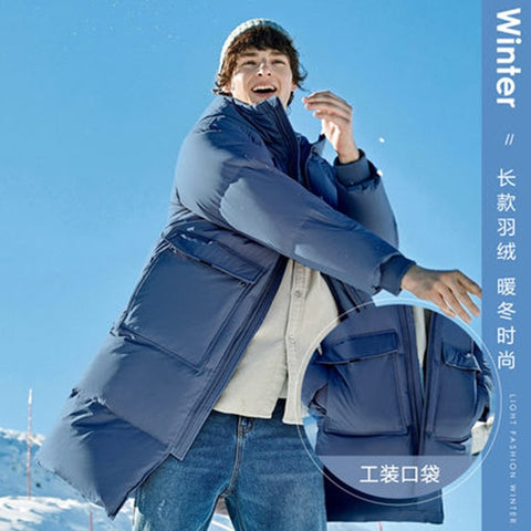 SEMIR New Clothing Winter Down Jacket Men Business Long Thick Winter Coat Men