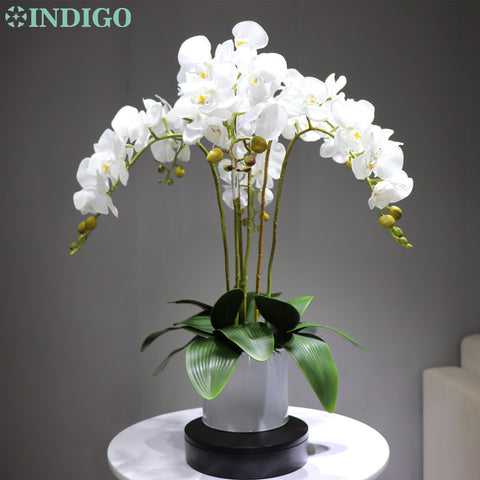 Image of INDIGO- Phalaenopsis Orchid Real Touch Artificial Flower Wedding Flower Orchid Floral Party