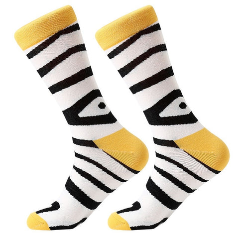 Image of MYORED 1 pair men socks combed cotton cartoon novelty funny socks