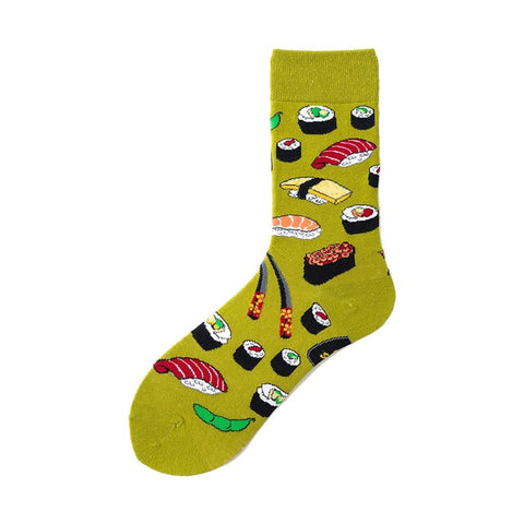 Image of Novelty Happy Funny Men Graphic Socks Combed Cotton