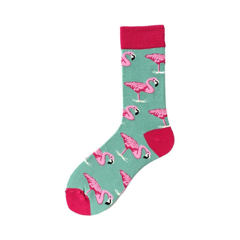 Novelty Happy Funny Men Graphic Socks Combed Cotton