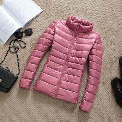 Down Parka Women Ultra-light Thin Down Jacket