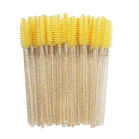 50Pcs Wimpern Pinsel Make-Up Pinsel Einweg Mascara Wands Applikator Multicolors