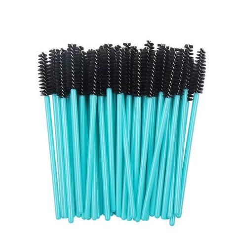 Image of 50Pcs Wimpern Pinsel Make-Up Pinsel Einweg Mascara Wands Applikator Multicolors
